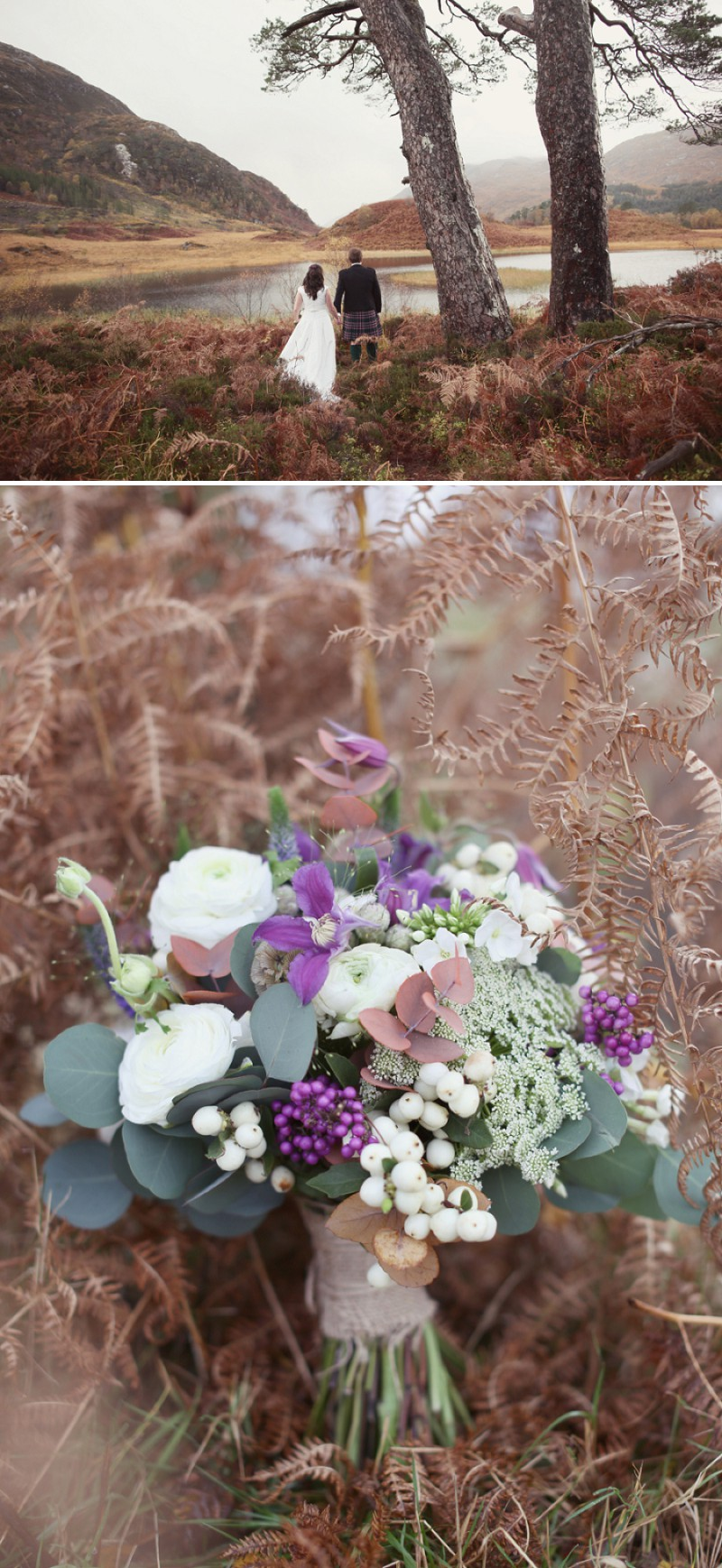 An Exquisite Winter Humanist Wedding By Glenfinnan Loch In Scotland With An Ian Stuart Dress And Tartan Wedding Theme By Craig And Eva Sanders Photography._0001