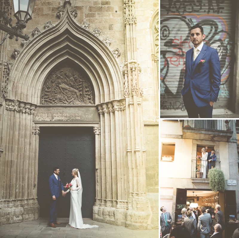 An Intimate And Luxurious Destination Wedding In Barcelona With A Suzanne Neville 'Regency' Dress And A Jenny Packham 'Valentine' Headpiece By Modern Vintage Weddings Photography._0007