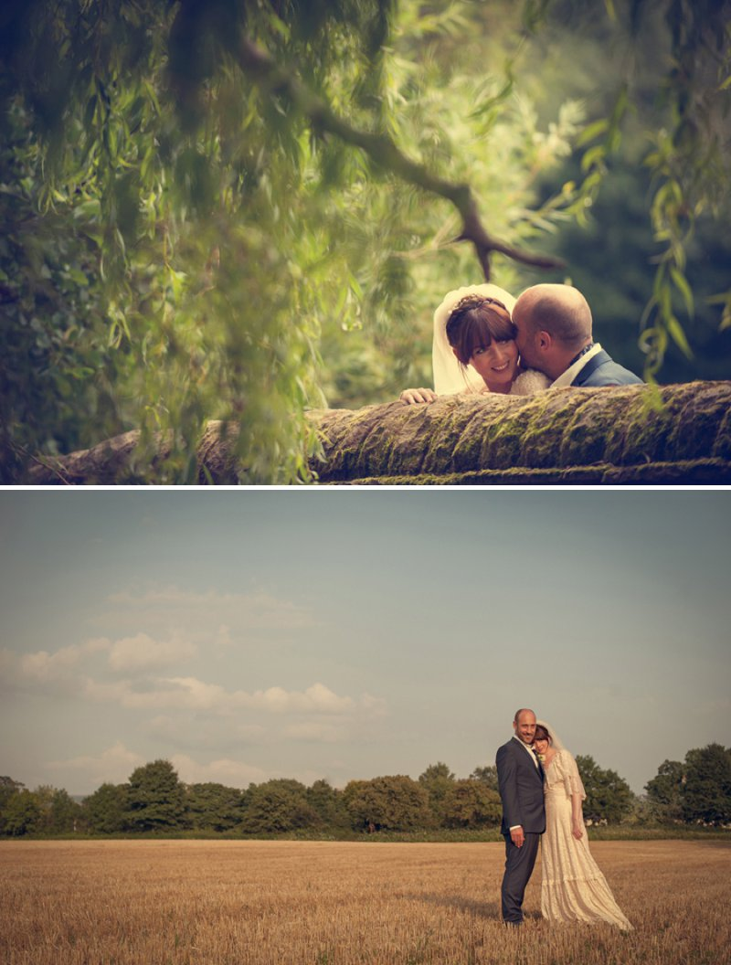 A 70s Inspired Wedding With A Pastel Colour Scheme And Bride In Vintage Lace Dress Found On Ebay And Groom In Navy Three Piece Suit By Paul Smith With Images From Steve Longbottom Mr Sleeve Wedding Photography 11