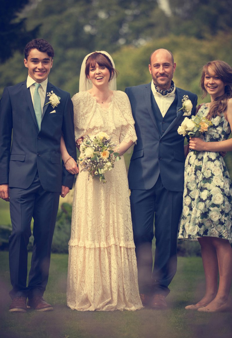 A 70s Inspired Wedding With A Pastel Colour Scheme And Bride In Vintage Lace Dress Found On Ebay And Groom In Navy Three Piece Suit By Paul Smith With Images From Steve Longbottom Mr Sleeve Wedding Photography 7