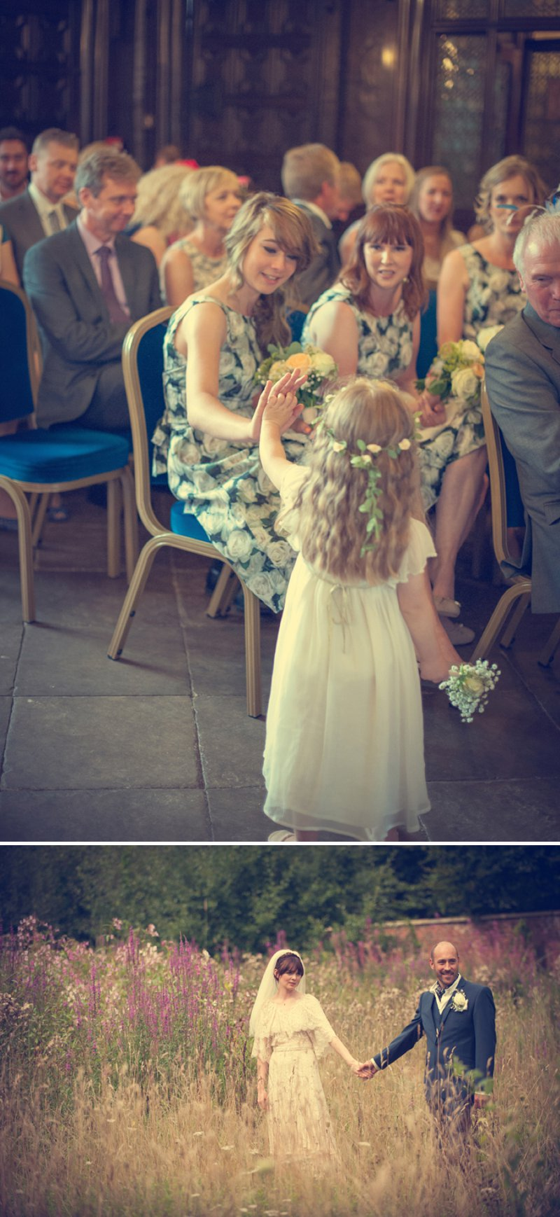 A 70s Inspired Wedding With A Pastel Colour Scheme And Bride In Vintage Lace Dress Found On Ebay And Groom In Navy Three Piece Suit By Paul Smith With Images From Steve Longbottom Mr Sleeve Wedding Photography 9