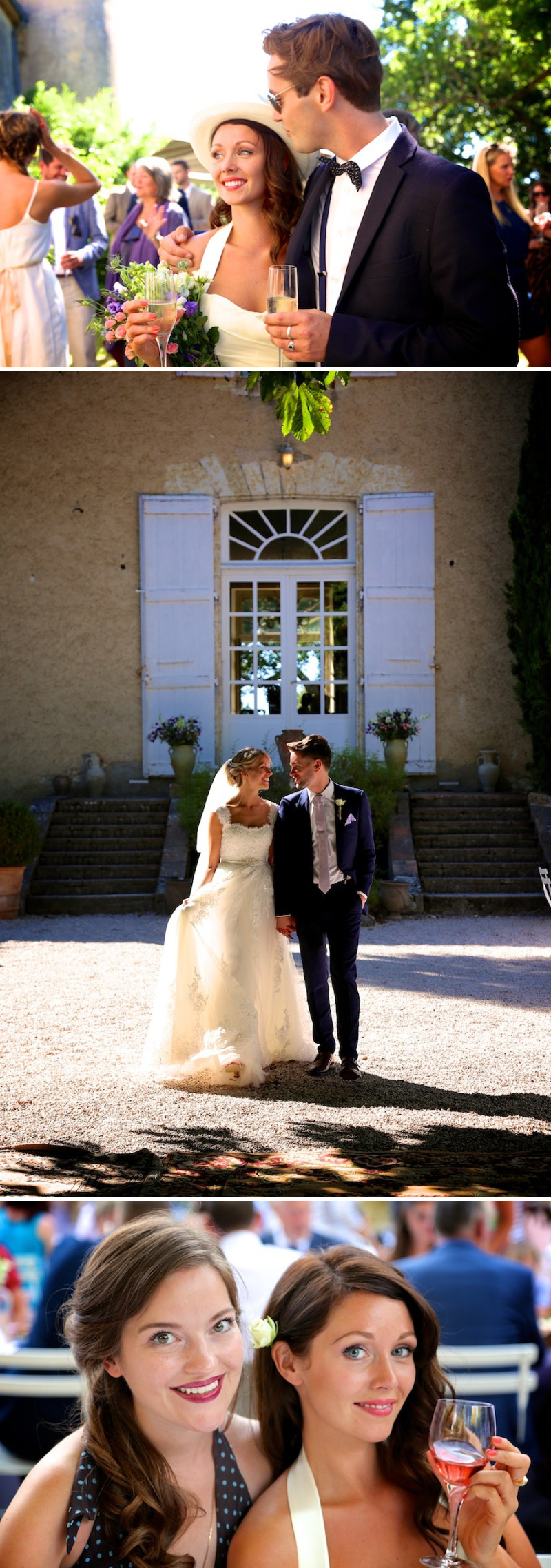 A Beautiful Destination Wedding At Chateau De Lartigolle In France With A Classic Lace Wedding Dress Photographed by Matthew Weinreb._0008