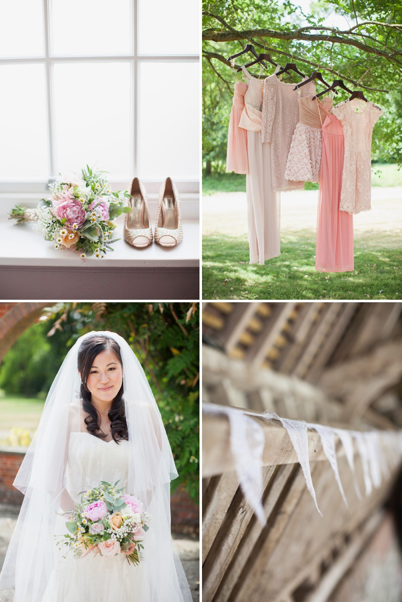 A Fun And Pretty English Garden Wedding At Lains Barn In Oxford With A Stephanie Allin Hayworth Dress And A Peony Bouquet By Hayley Savage Photography._0001