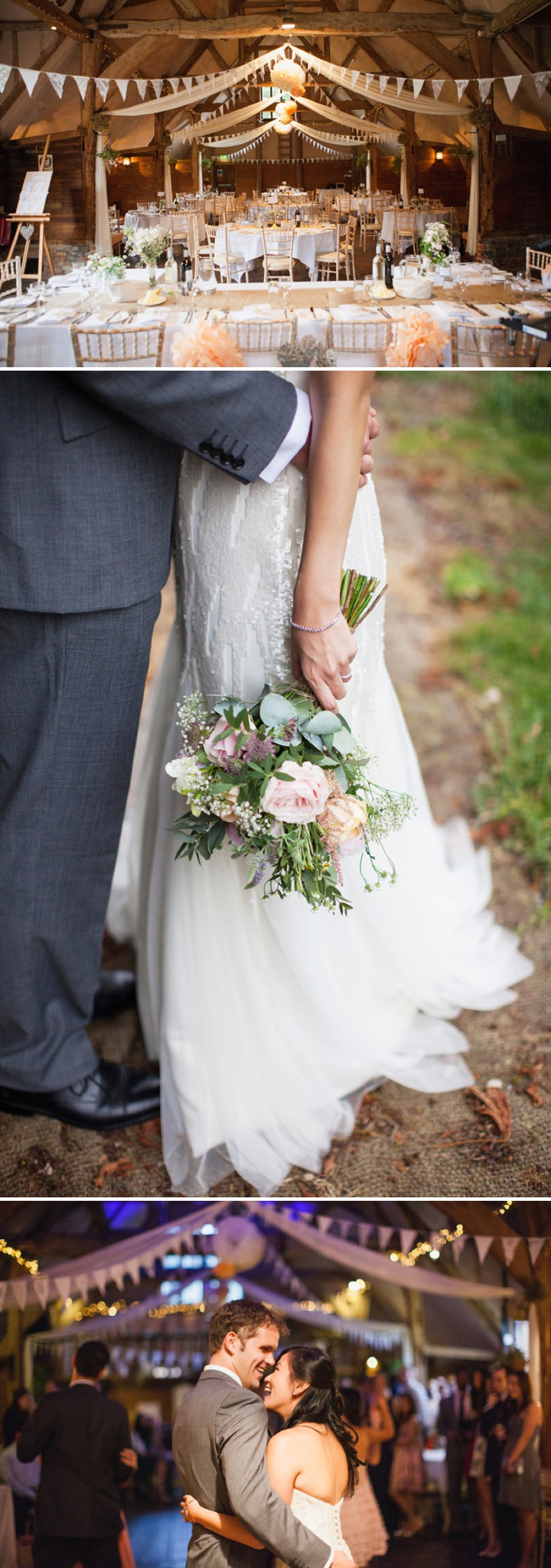 A Fun And Pretty English Garden Wedding At Lains Barn In Oxford With A Stephanie Allin Hayworth Dress And A Peony Bouquet By Hayley Savage Photography._0011