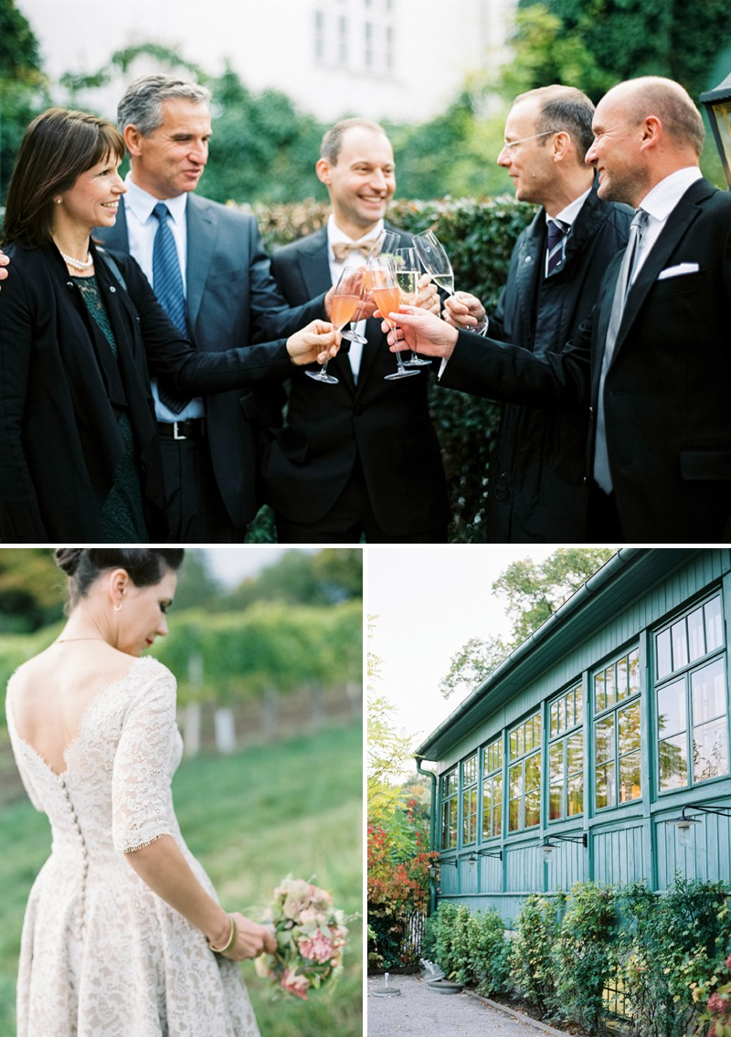 A Luxury And Intimate 1950s Style Autumn Wedding In Vienna With A Lena Hoschek Dress And Mink Stole And A Ranunculus Bouquet Photographed By Peaches & Mint._0009