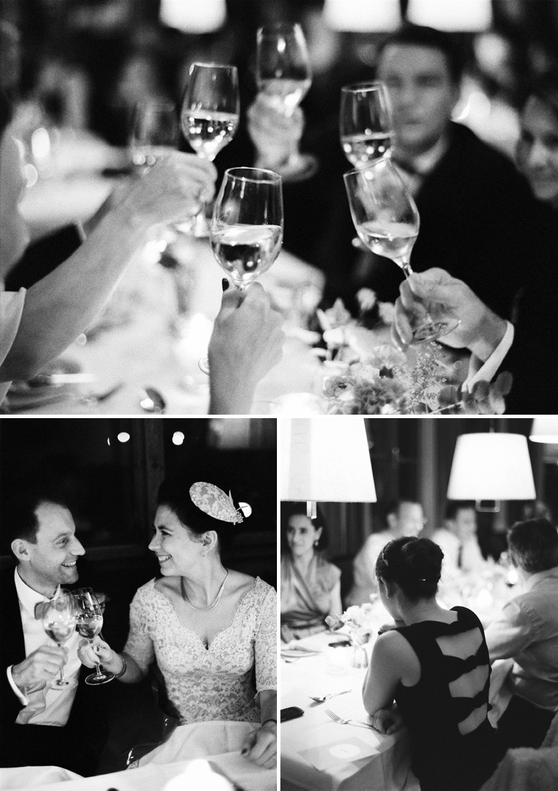 A Luxury And Intimate 1950s Style Autumn Wedding In Vienna With A Lena Hoschek Dress And Mink Stole And A Ranunculus Bouquet Photographed By Peaches & Mint._0012