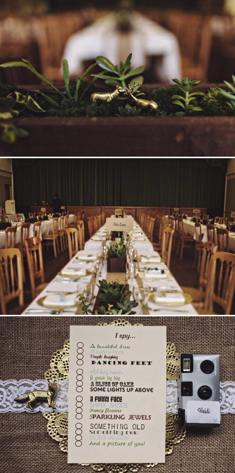 A Rustic Village Hall Wedding With A Blue And Gold Colour Scheme And Stag Graphic Across The Stationery With Bride In Bespoke Dress By Chic Dress And Groom In Brown Suit With Bridesmaids In Baby Blue Dresses With Broderie Anglaise Detail 8