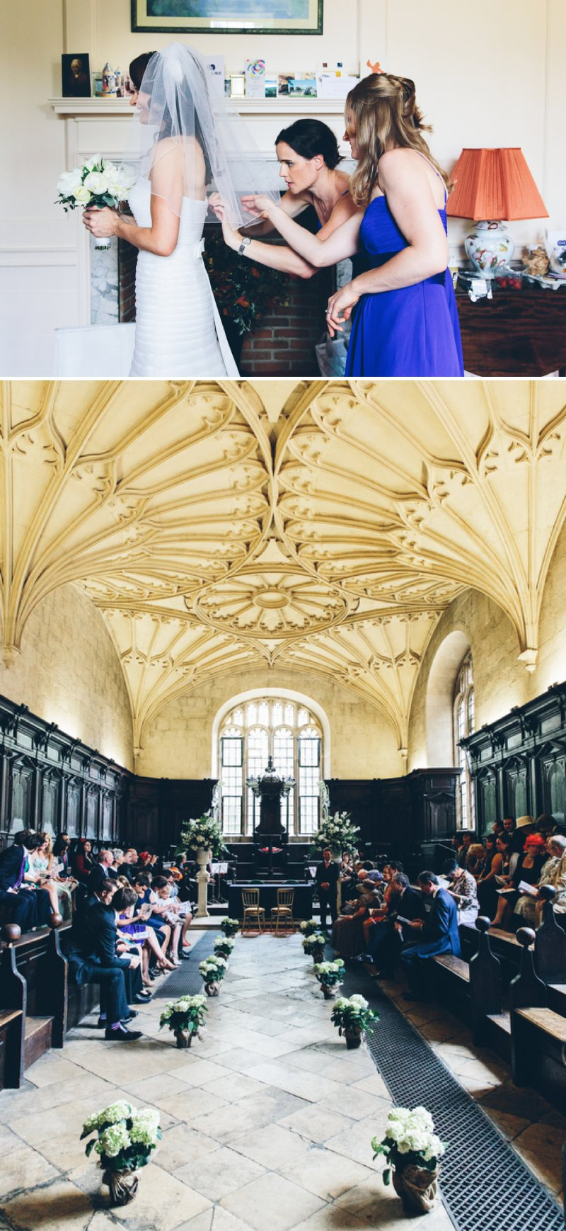 Elegant Contemporary Wedding At The Bodleian Library Queens College Oxford With Bride In Ulanova By Pronovias And Jimmy Choo Heels With Groom In Suit By Cad And The Dandy And Bridesmaids In Royal Blue Images By Mister Phill 2
