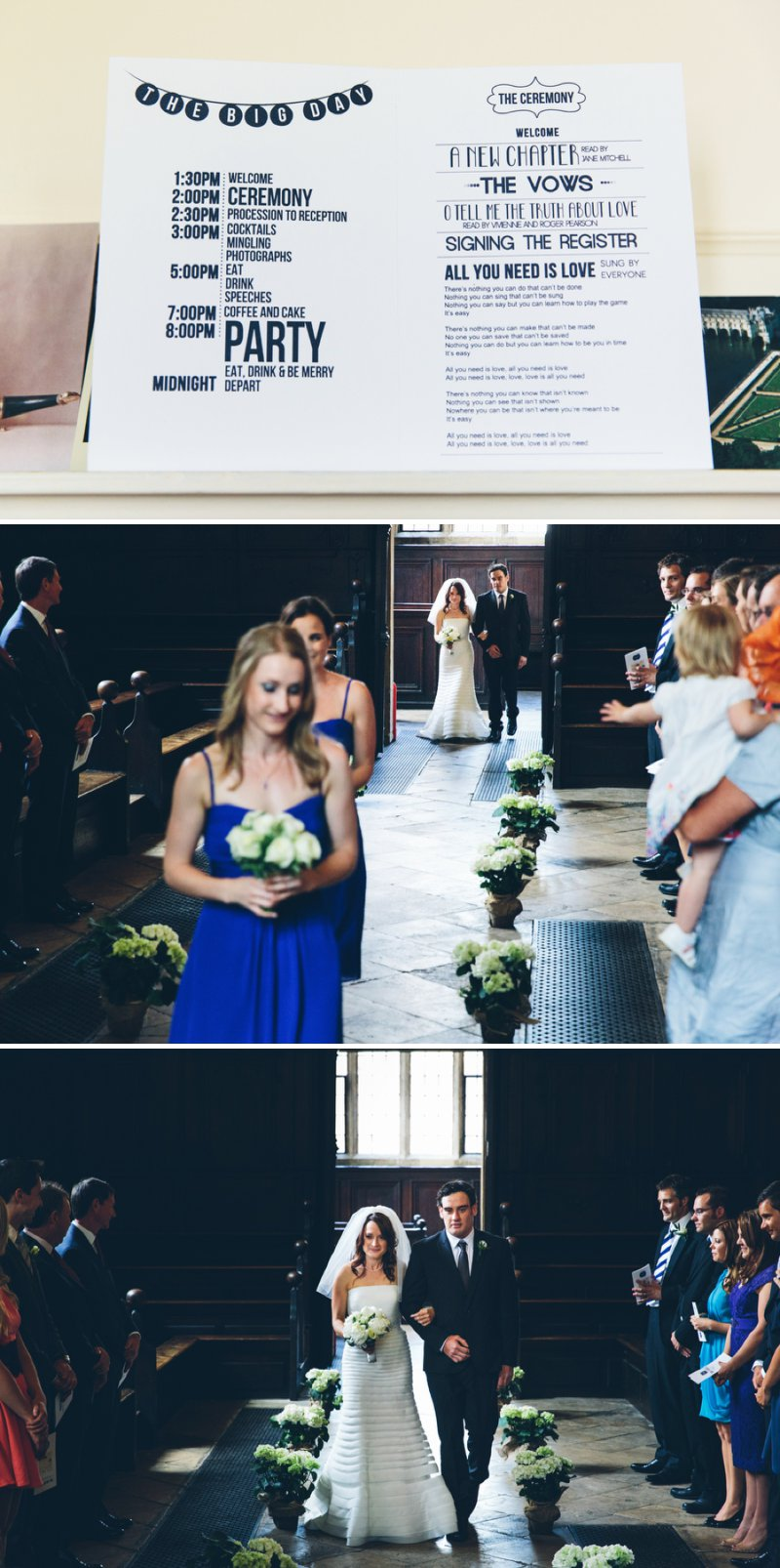 Elegant Contemporary Wedding At The Bodleian Library Queens College Oxford With Bride In Ulanova By Pronovias And Jimmy Choo Heels With Groom In Suit By Cad And The Dandy And Bridesmaids In Royal Blue Images By Mister Phill 3