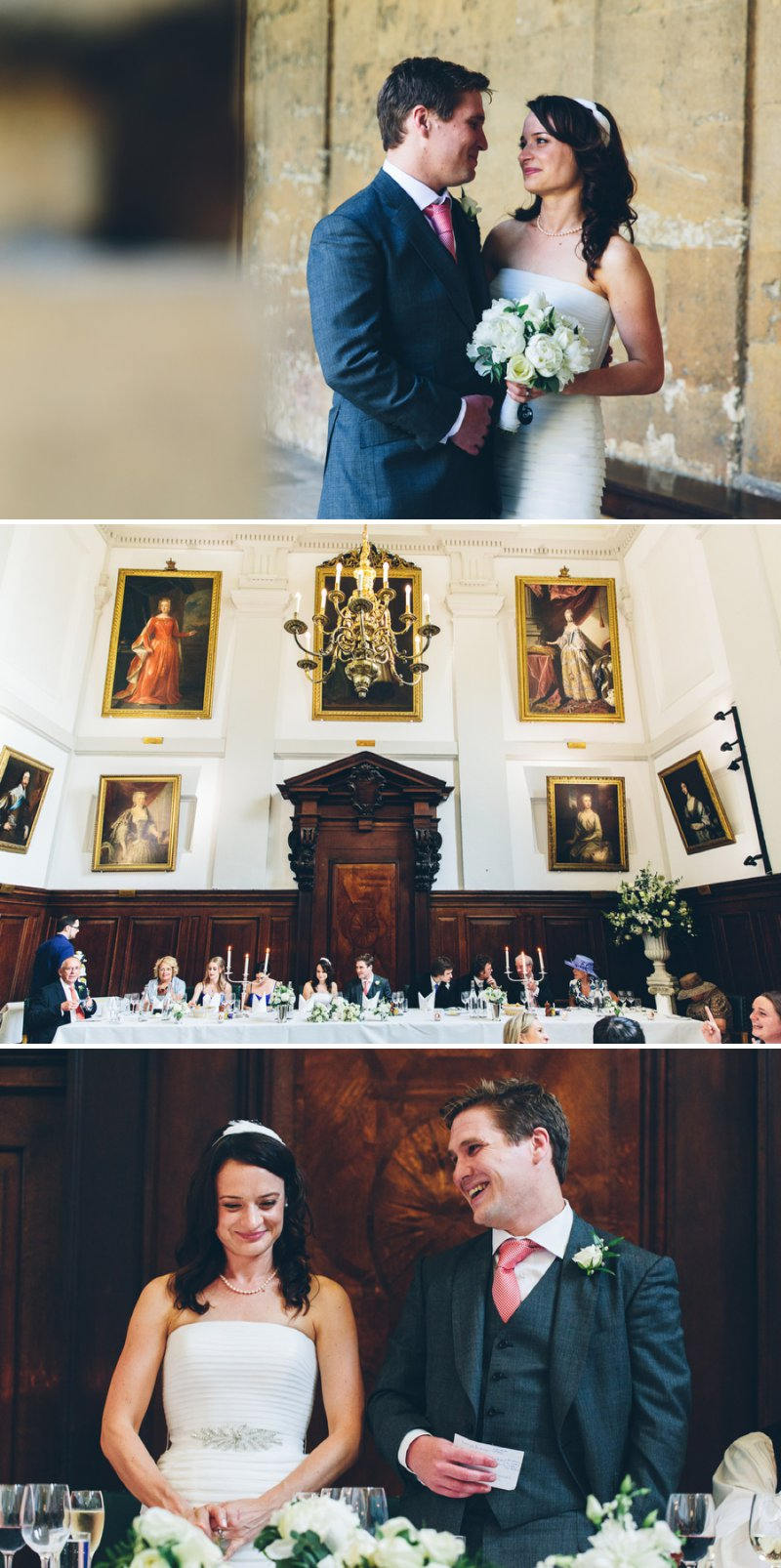 Elegant Contemporary Wedding At The Bodleian Library Queens College Oxford With Bride In Ulanova By Pronovias And Jimmy Choo Heels With Groom In Suit By Cad And The Dandy And Bridesmaids In Royal Blue Images By Mister Phill 8