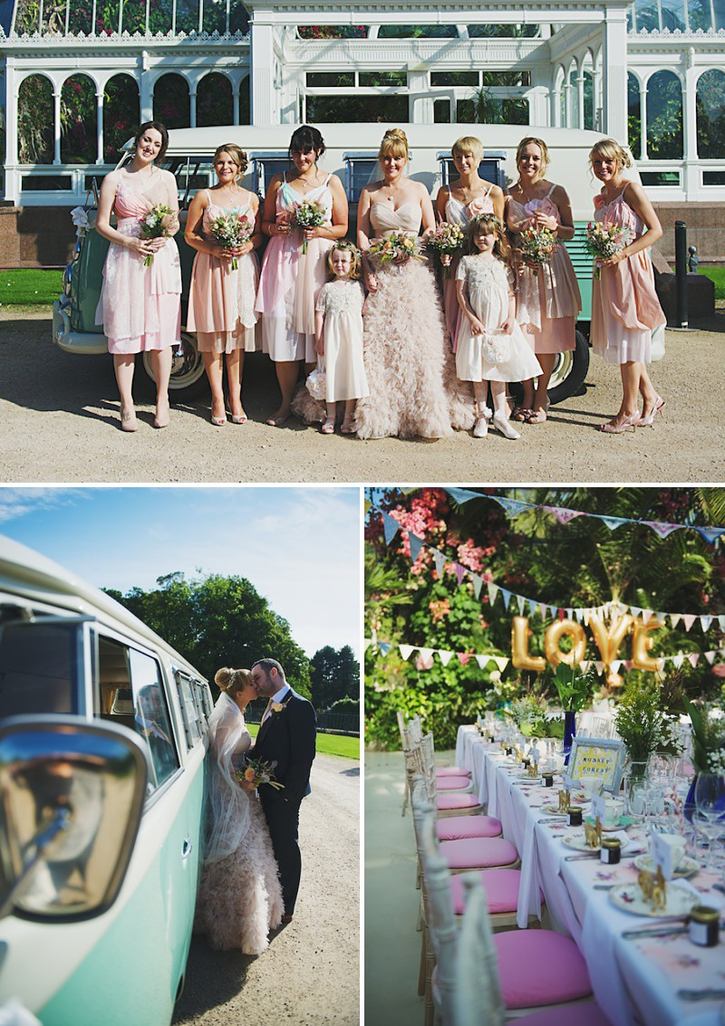 A Bright contemporary wedding with lots of DIY and pastel pink wedding gown. Photography by  Nicola Thompson Photography at Sefton Park Palm House_0008
