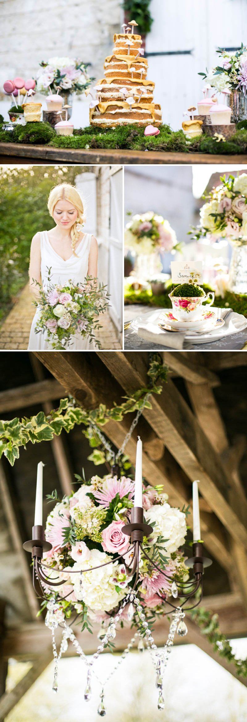 A Romantic And Whimsical Bridal Inspiration Shoot With Johanna Hehir Gowns And Victoria Millesime Accessories With Stationery By Artcadia And Flowers By Boutique Blooms Images From Anneli Marinovich 11 A French Forest Fairytale.
