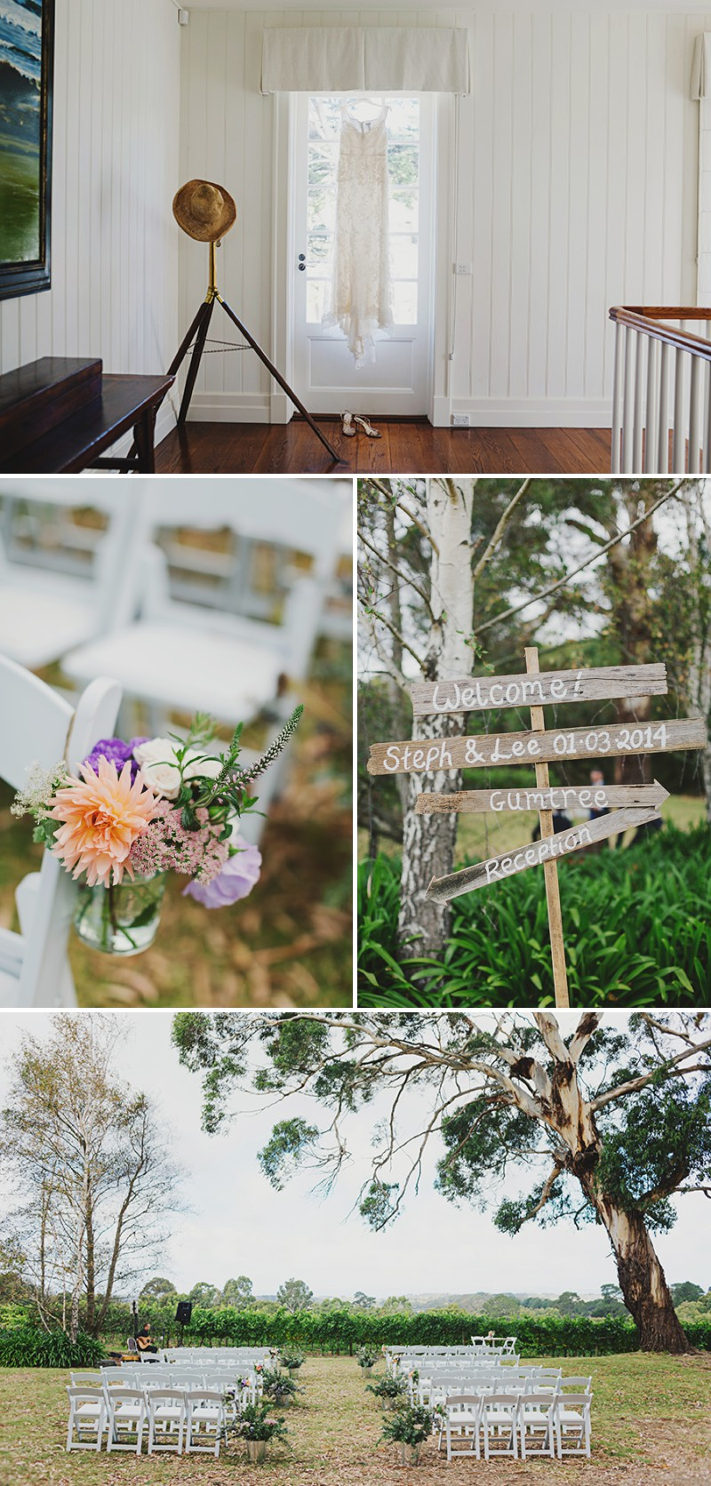 A Rustic And Beautiful Destination Wedding At Red Hill Estate in Australia With A Collette Dinnigan Dress With An Outdoor Ceremony And A Handpicked Rose Bouquet Photographed By Jonathan Ong._0001