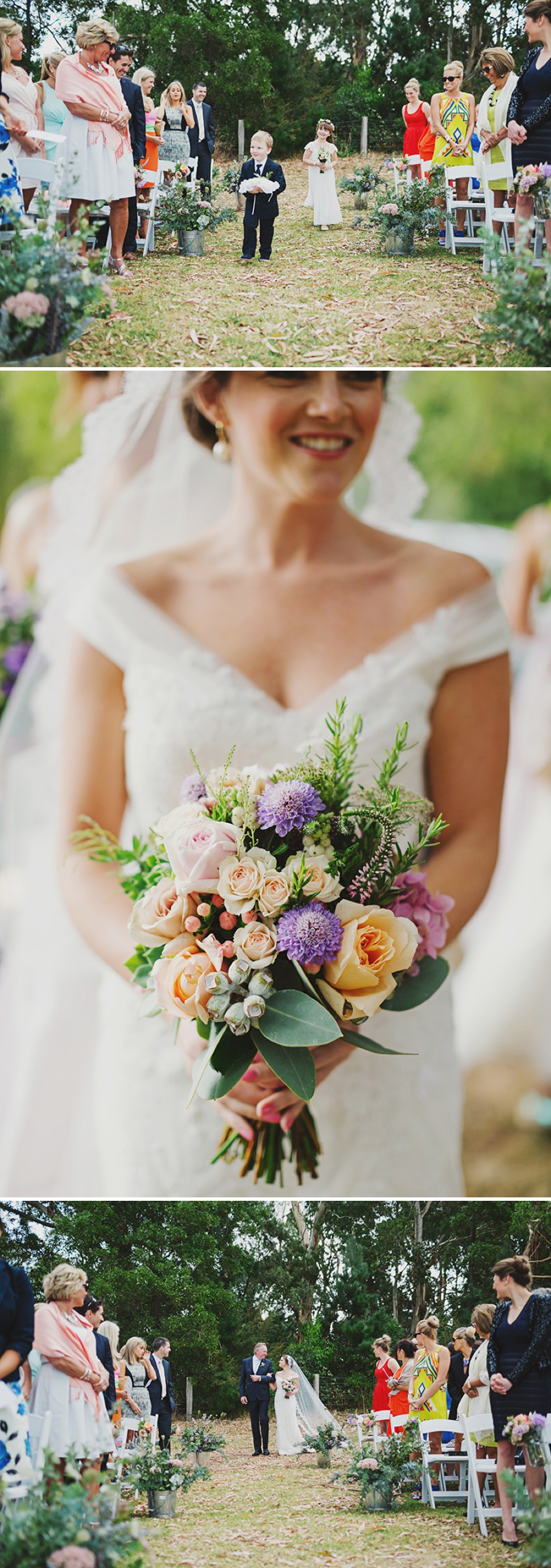 A Rustic And Beautiful Destination Wedding At Red Hill Estate in Australia With A Collette Dinnigan Dress With An Outdoor Ceremony And A Handpicked Rose Bouquet Photographed By Jonathan Ong._0004