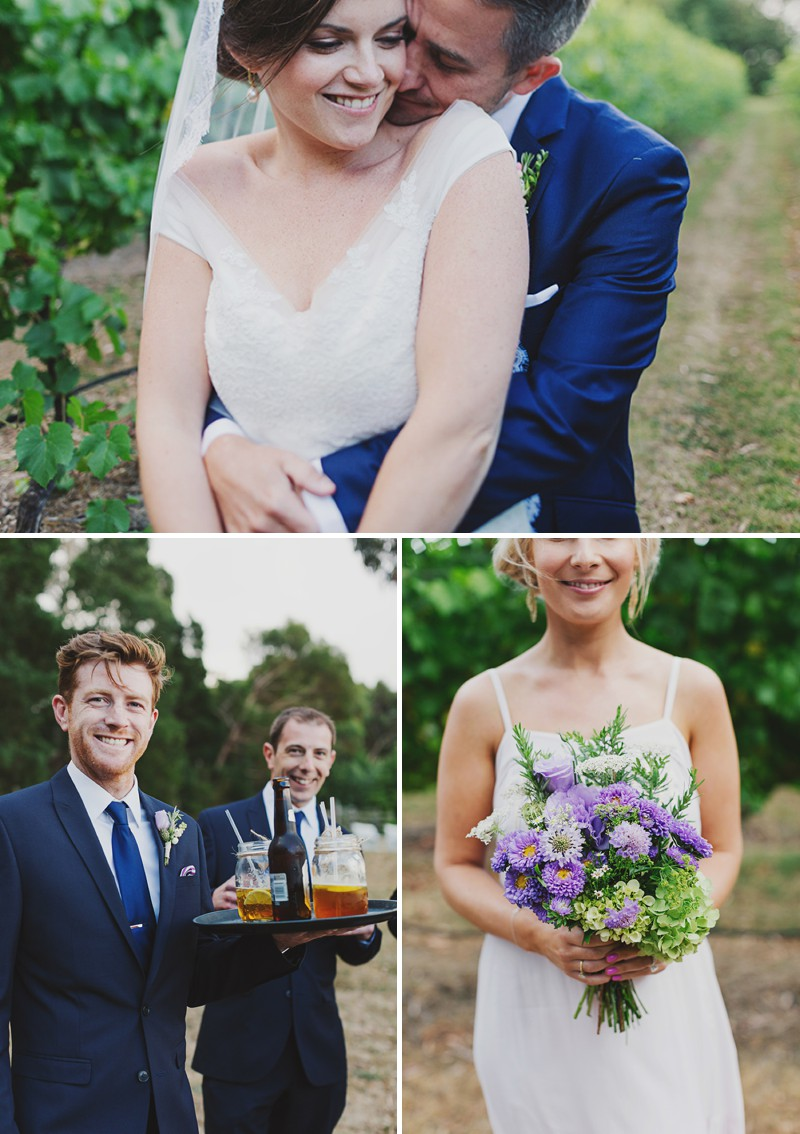 A Rustic And Beautiful Destination Wedding At Red Hill Estate in Australia With A Collette Dinnigan Dress With An Outdoor Ceremony And A Handpicked Rose Bouquet Photographed By Jonathan Ong._0008