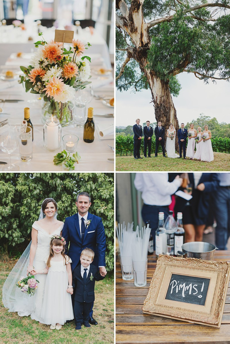 A Rustic And Beautiful Destination Wedding At Red Hill Estate in Australia With A Collette Dinnigan Dress With An Outdoor Ceremony And A Handpicked Rose Bouquet Photographed By Jonathan Ong._0011