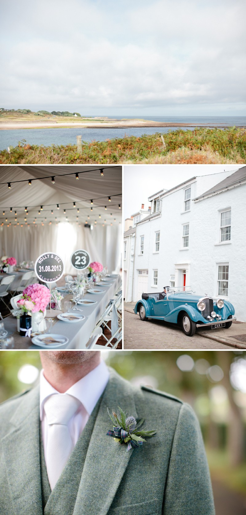 A Rustic Marquee Wedding On The Isle Of Alderney With A Suzanne Neville Dress And A Jenny Packham Acacia Headpiece With A Hydrangea Bouquet And A Skiing Theme Photographed By Helen Cawte. 0001 A Skiing Adventure In Alderney.