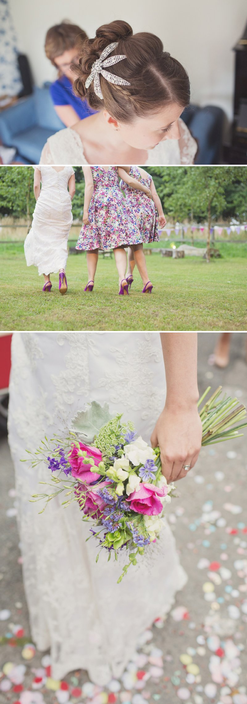 A Rustic Wedding At The Crown Inn Pishill With Bride In Bespoke Lace Gown And Groom In Tweed Suit From Clements And Church With Bunting And An Vintage VW Campervan Images From Cotton Candy Wedding Photography 2
