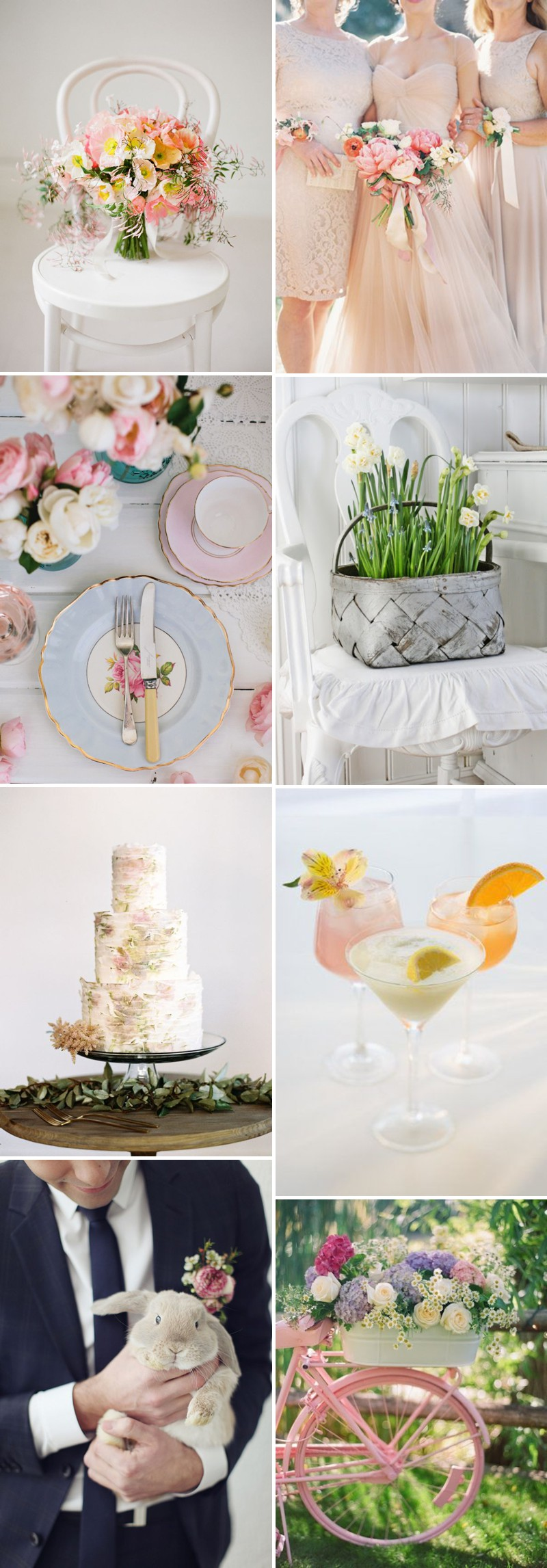 Beautiful And Unique Wedding Inspiration For Your Easter Wedding With Spring Centrepieces And Florals And Colourful Decor. 0001 An Easter Parade.