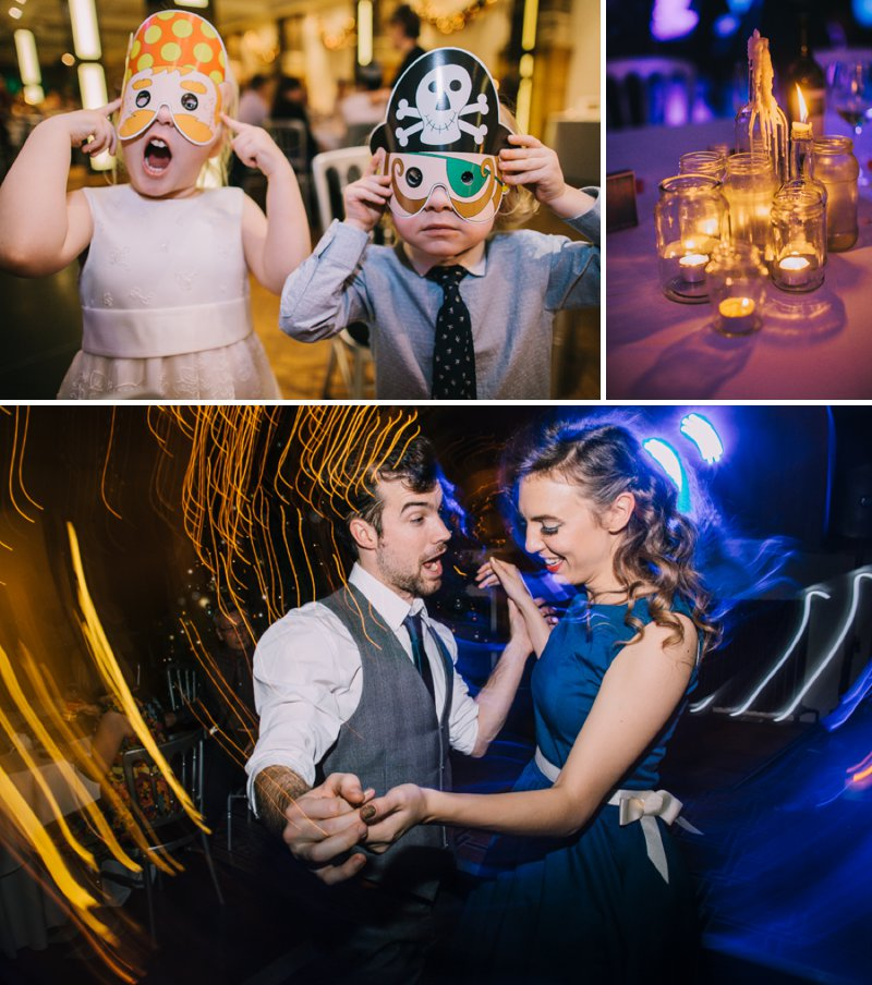 Contemporary Christmas Wedding At Aspire Leeds With Bride In Vivienne Westwood Pumps And A Statement J Crew Necklace With Groom In Ted Baker Suit And Bridesmaids In Brightly Coloured Lindy Bop Dresses Images From Chris Barber Photography 7