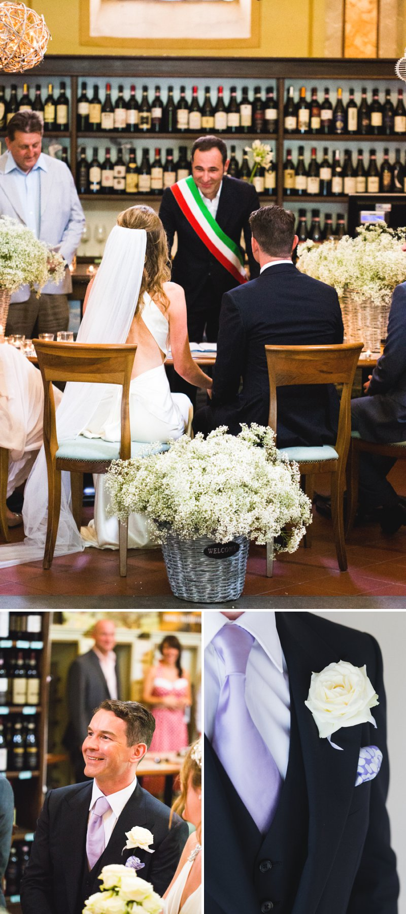 Elegant Wedding In Italy At The Locanda del Pilone Hotel And Restaurant With Bride In Julianne By Jenny Packham And Groom In Tom Ford Suit With A Five Course Italian Banquet 4