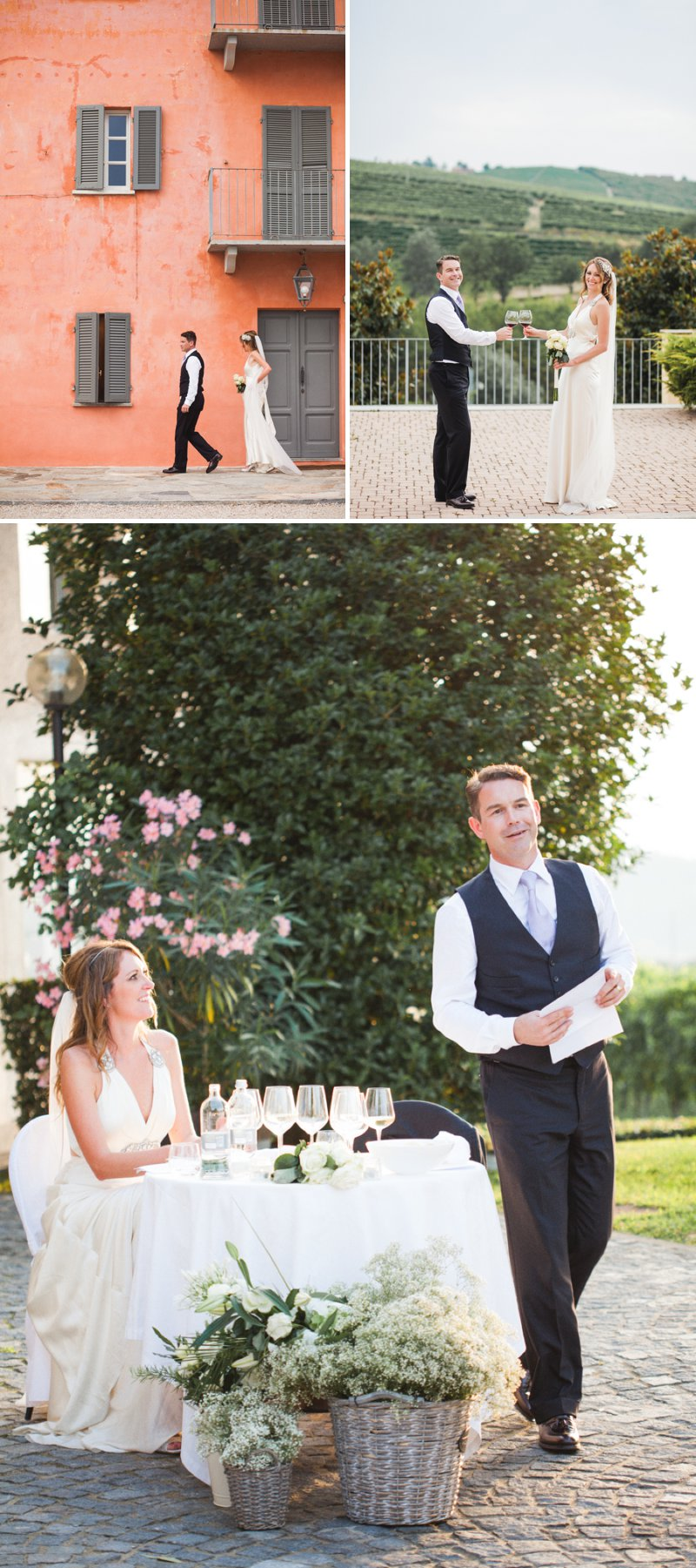 Elegant Wedding In Italy At The Locanda del Pilone Hotel And Restaurant With Bride In Julianne By Jenny Packham And Groom In Tom Ford Suit With A Five Course Italian Banquet 7