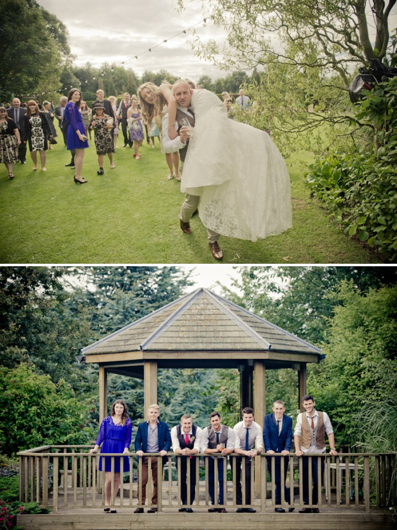 Rustic Wedding At Newton House In Derbyshire With Bride In Sophia Tolli Gown With A Dried Flower Headpiece From The Artisan Dried Flower Co And Groom In Tweed Waistcoat With Images From Jake Morley 8