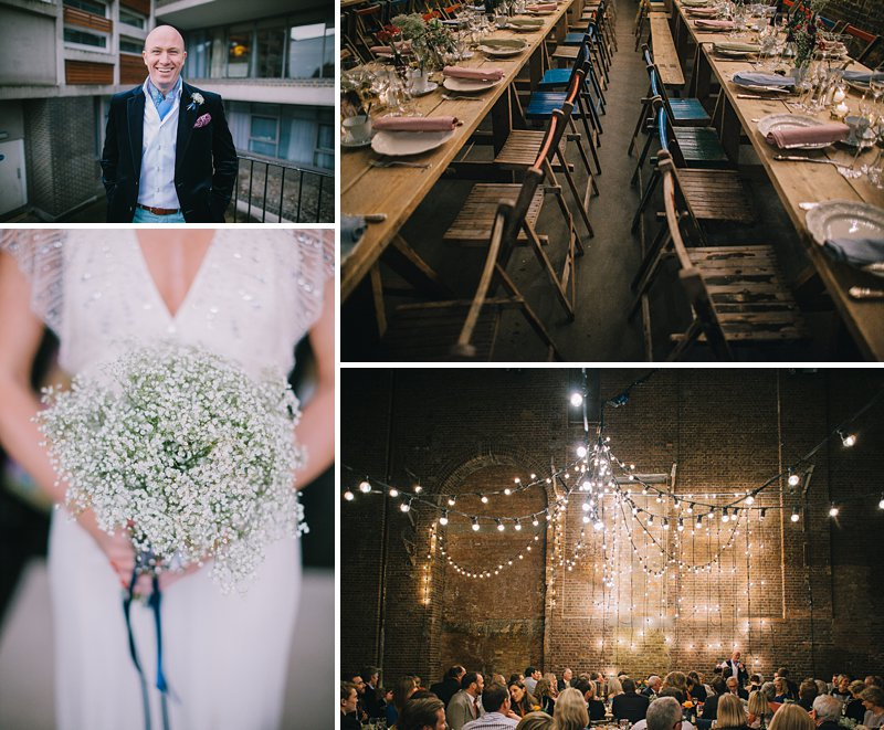 A cool and contemporary english city wedding in London with Jenny Packham dress and lots of DIY home made elements. Bridesmaids in Coast and Photography by Chris Barber_0001