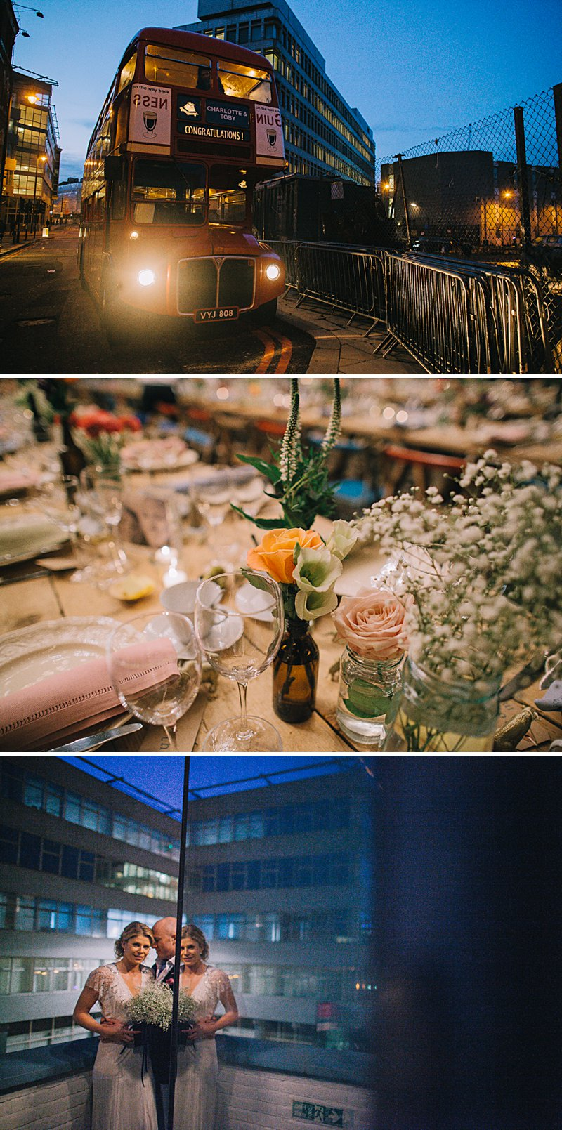 A cool and contemporary english city wedding in London with Jenny Packham dress and lots of DIY home made elements. Bridesmaids in Coast and Photography by Chris Barber_0009