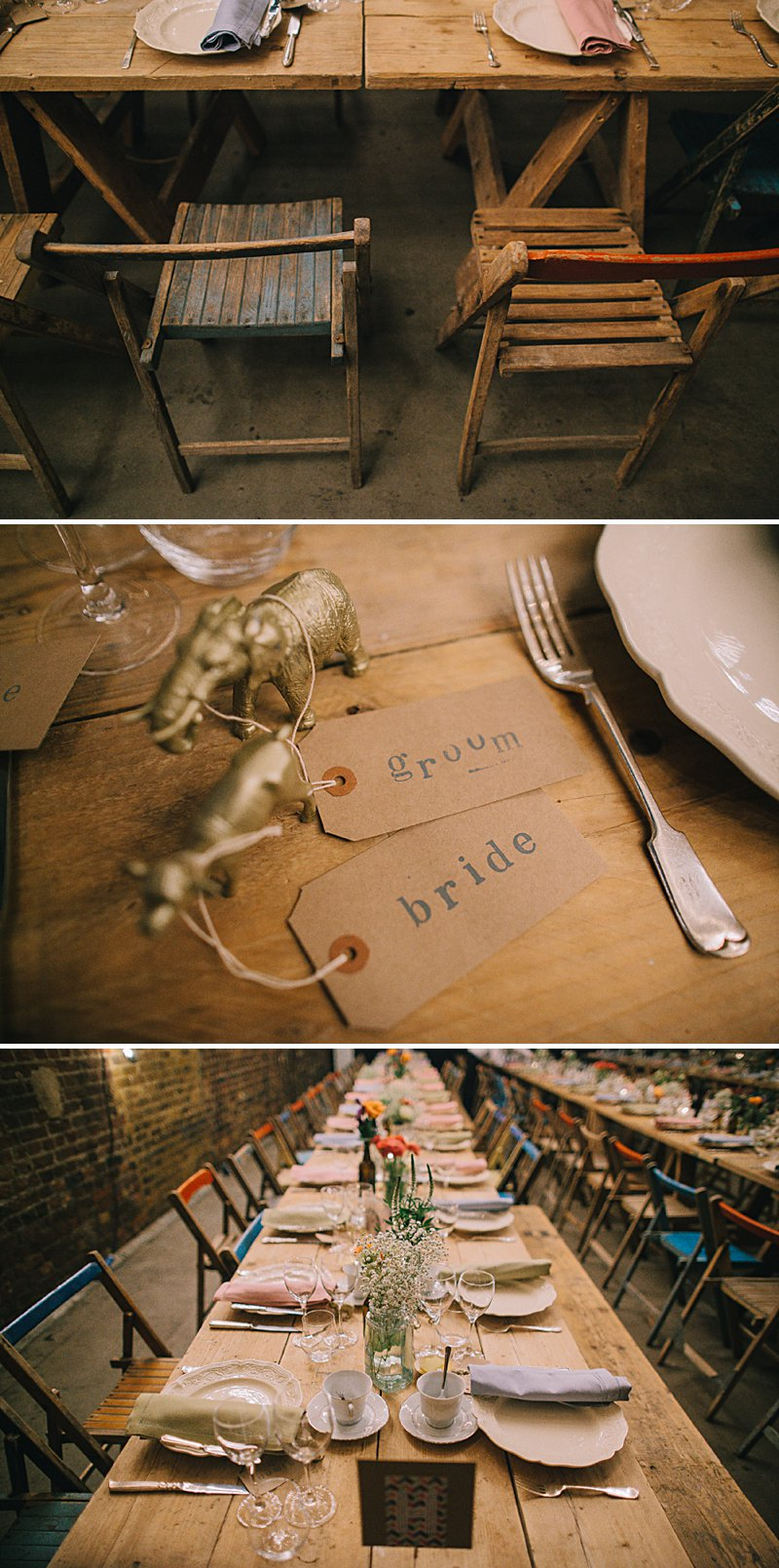 A cool and contemporary english city wedding in London with Jenny Packham dress and lots of DIY home made elements. Bridesmaids in Coast and Photography by Chris Barber_0010