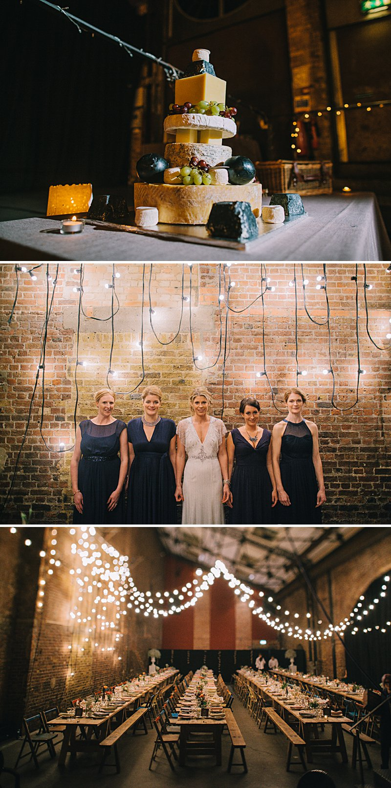 A cool and contemporary english city wedding in London with Jenny Packham dress and lots of DIY home made elements. Bridesmaids in Coast and Photography by Chris Barber_0012