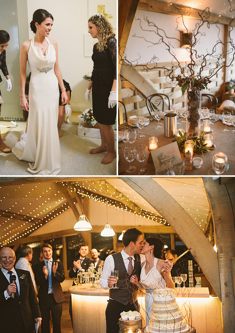 A rustic winter wedding at Cripps Barn with DIY home made decor and Halfpenny London bridal gown blue maids dresses and photography by Ellie Gilliard 0001 A Rustic Winter Wedding At Cripps Barn