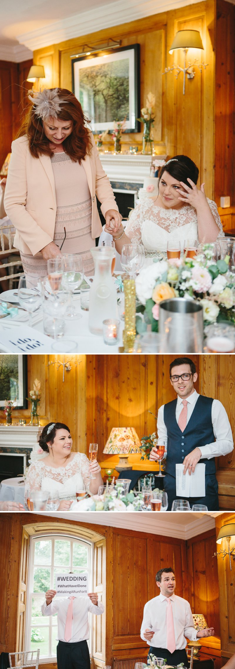 Blush Pink And Gold Glitter Themed Wedding At The Rectory Hotel With Bride In Bespoke Gown By Dana Bolton And Groom In Ted Baker Pashion Suit With Elegant Typography Across The Paper Goods And Images By Shell de Mar Photography 11
