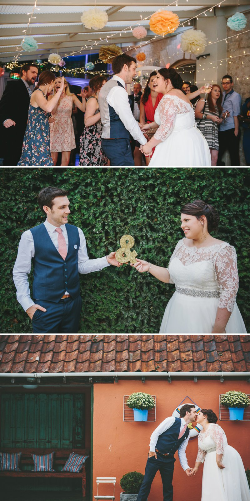 Blush Pink And Gold Glitter Themed Wedding At The Rectory Hotel With Bride In Bespoke Gown By Dana Bolton And Groom In Ted Baker Pashion Suit With Elegant Typography Across The Paper Goods And Images By Shell de Mar Photography 12