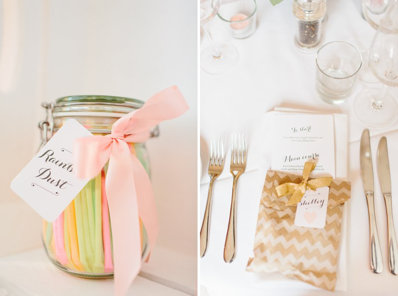 Blush Pink And Gold Glitter Themed Wedding At The Rectory Hotel With Bride In Bespoke Gown By Dana Bolton And Groom In Ted Baker Pashion Suit With Elegant Typography Across The Paper Goods And Images By Shell de Mar Photography 7