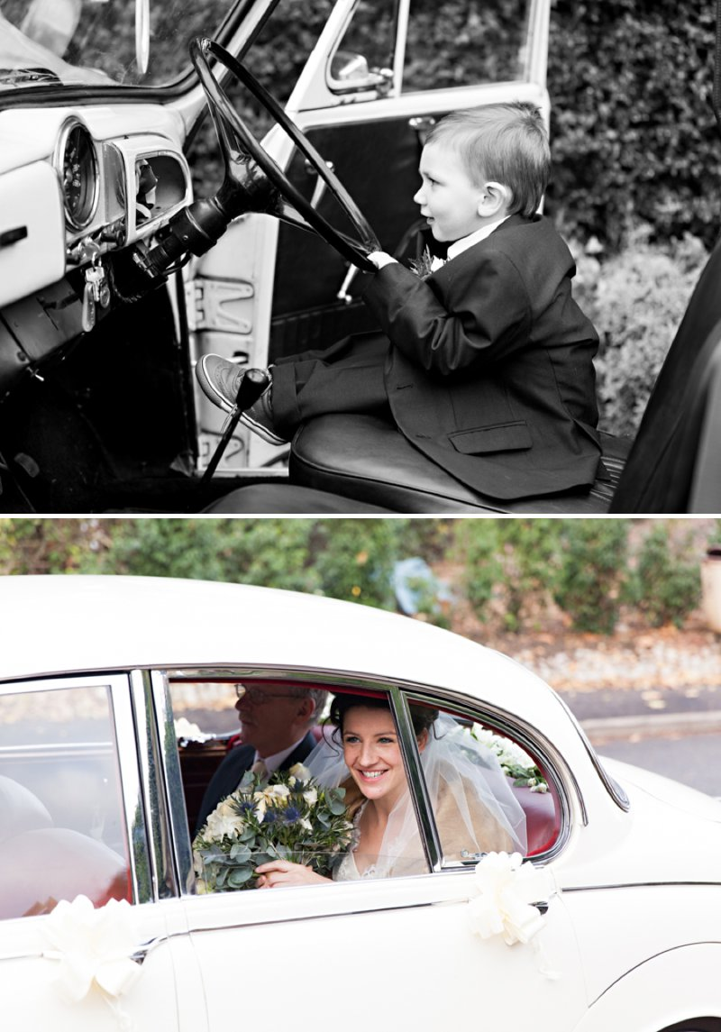 Elegant Vintage Inspired Wedding At Shottle Hall In Derbyshire With Bride In Essense Of Australia Gown With Miu Miu Shoes And Groom In Ted Baker Suit With A Vintage Jaguar Car 4