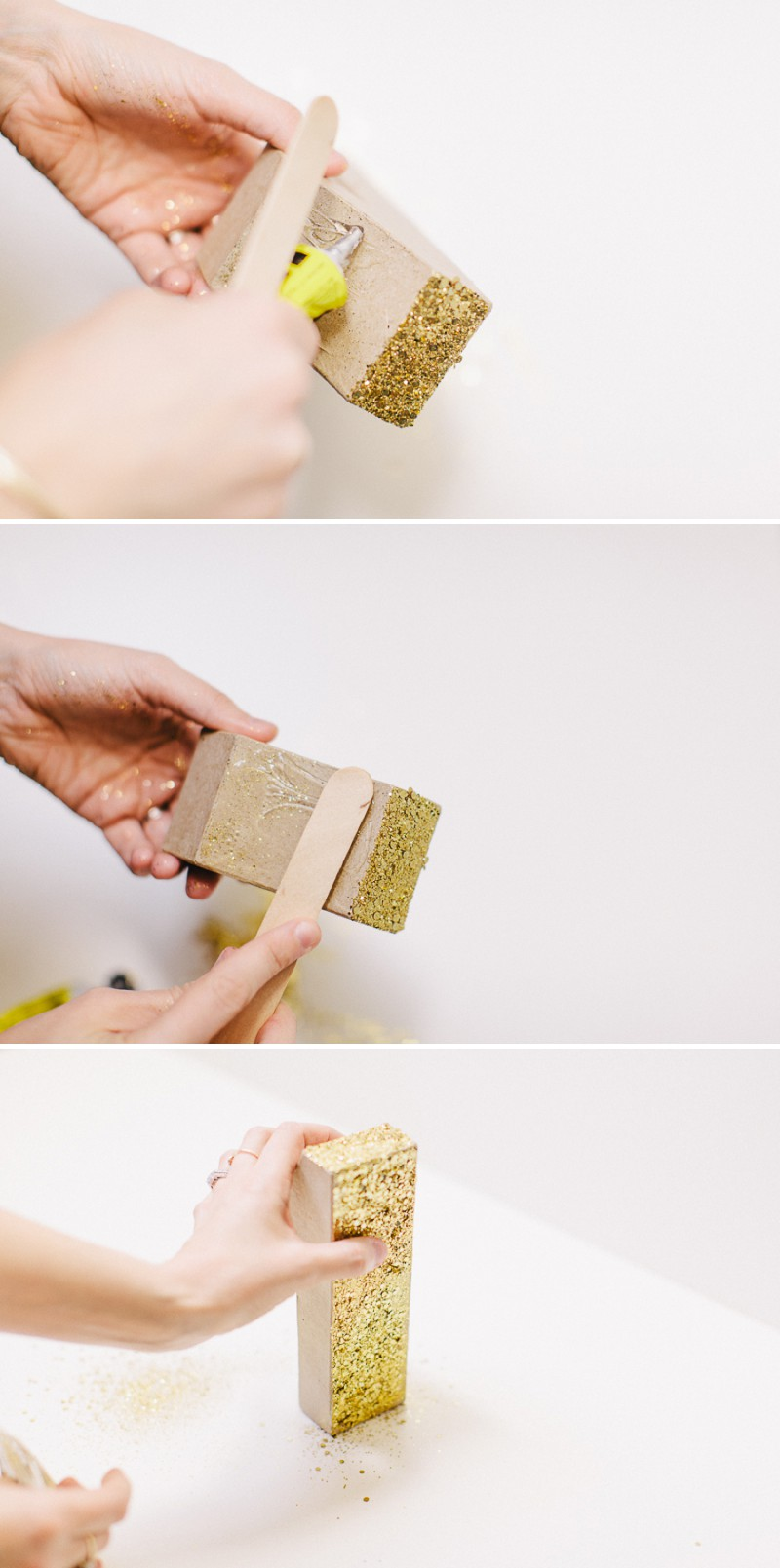 How to create a golden glittery table number for your wedding table settings and table plans._0003