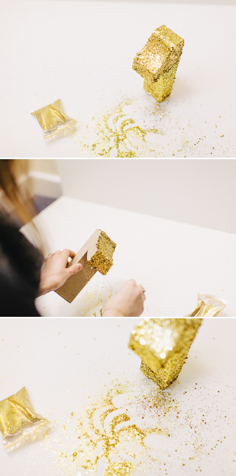 How to create a golden glittery table number for your wedding table settings and table plans._0004