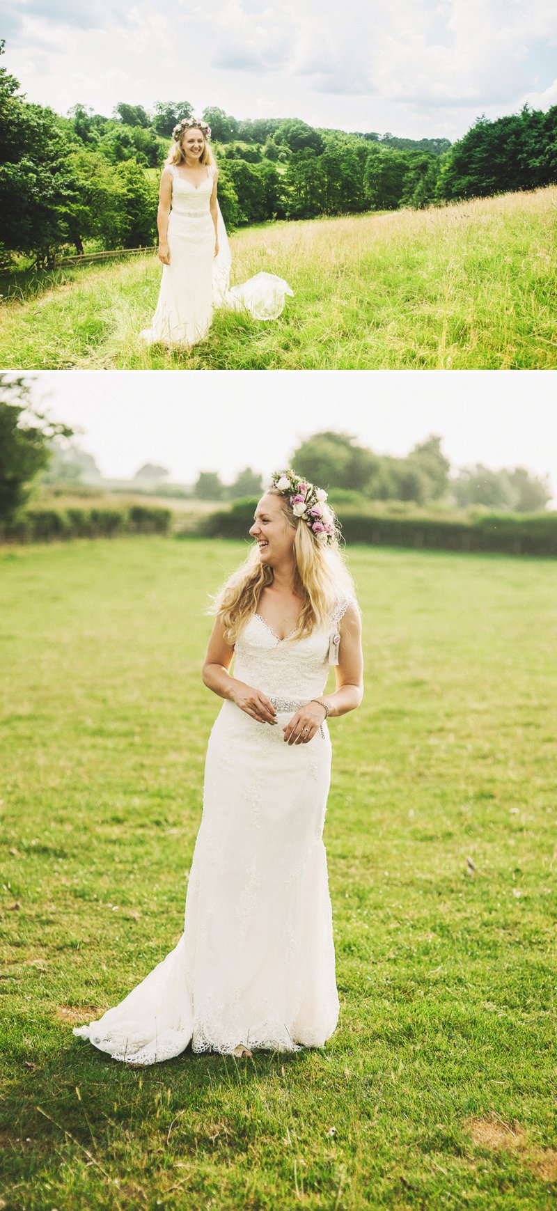 Rustic Marquee Wedding At Mallard Grange In Yorkshire With A Dusty Pink, Cream And Grey Colour Scheme With Bride In Gown From Eternity Bridal With A Vintage VW Camper Van 10
