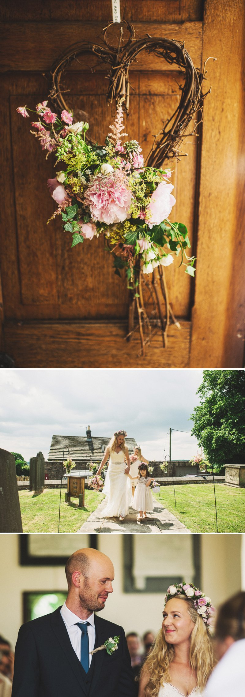 Rustic Marquee Wedding At Mallard Grange In Yorkshire With A Dusty Pink, Cream And Grey Colour Scheme With Bride In Gown From Eternity Bridal With A Vintage VW Camper Van 2