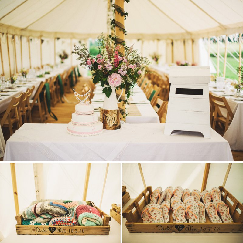 Rustic Marquee Wedding At Mallard Grange In Yorkshire With A Dusty Pink, Cream And Grey Colour Scheme With Bride In Gown From Eternity Bridal With A Vintage VW Camper Van 5