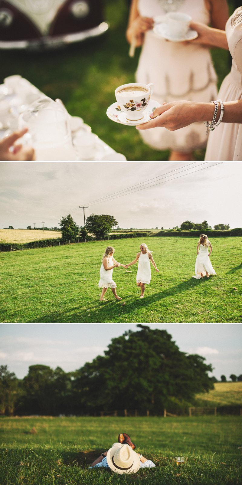 Rustic Marquee Wedding At Mallard Grange In Yorkshire With A Dusty Pink, Cream And Grey Colour Scheme With Bride In Gown From Eternity Bridal With A Vintage VW Camper Van 8