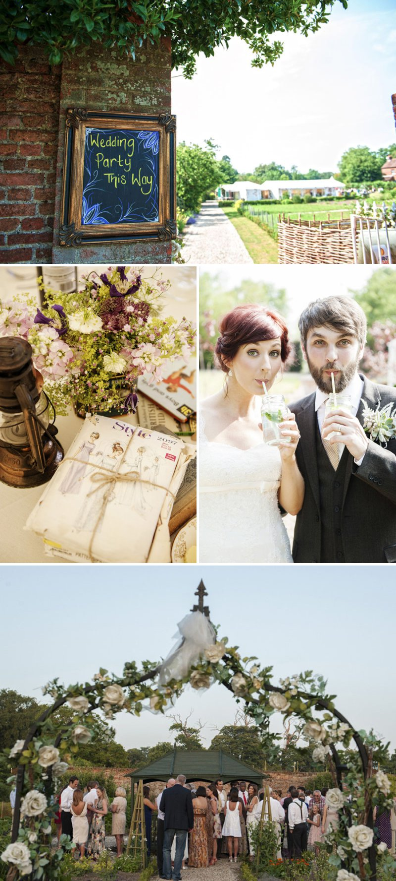 Vintage Inspired Wedding At The Secret Garden Kent With Bride In Pronovias Gown With Peony Bouquets Groom In Navy Suit From Next With Fun And Quirky Wedding Photography From Ben Wetherall 1 Fun And Games In The Secret Garden.