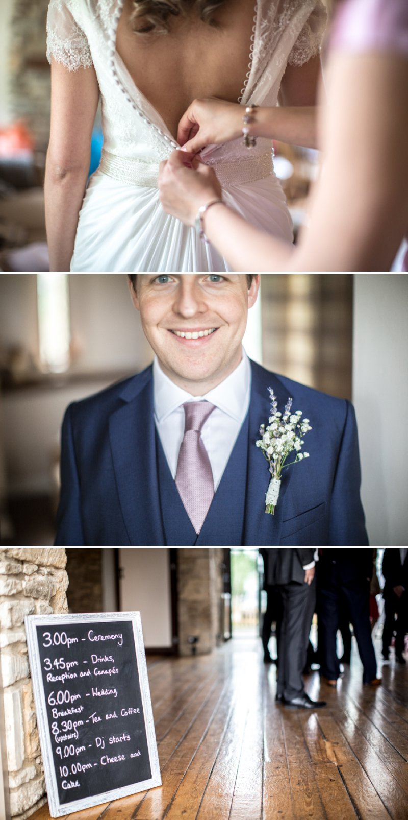 A Pretty Barn Wedding In The Cotswolds At The Great Tythe Barn With Bride In Pronovias And Groom In Reiss With Decor From The Vintage Hire And Images From Richard Jones Photography3