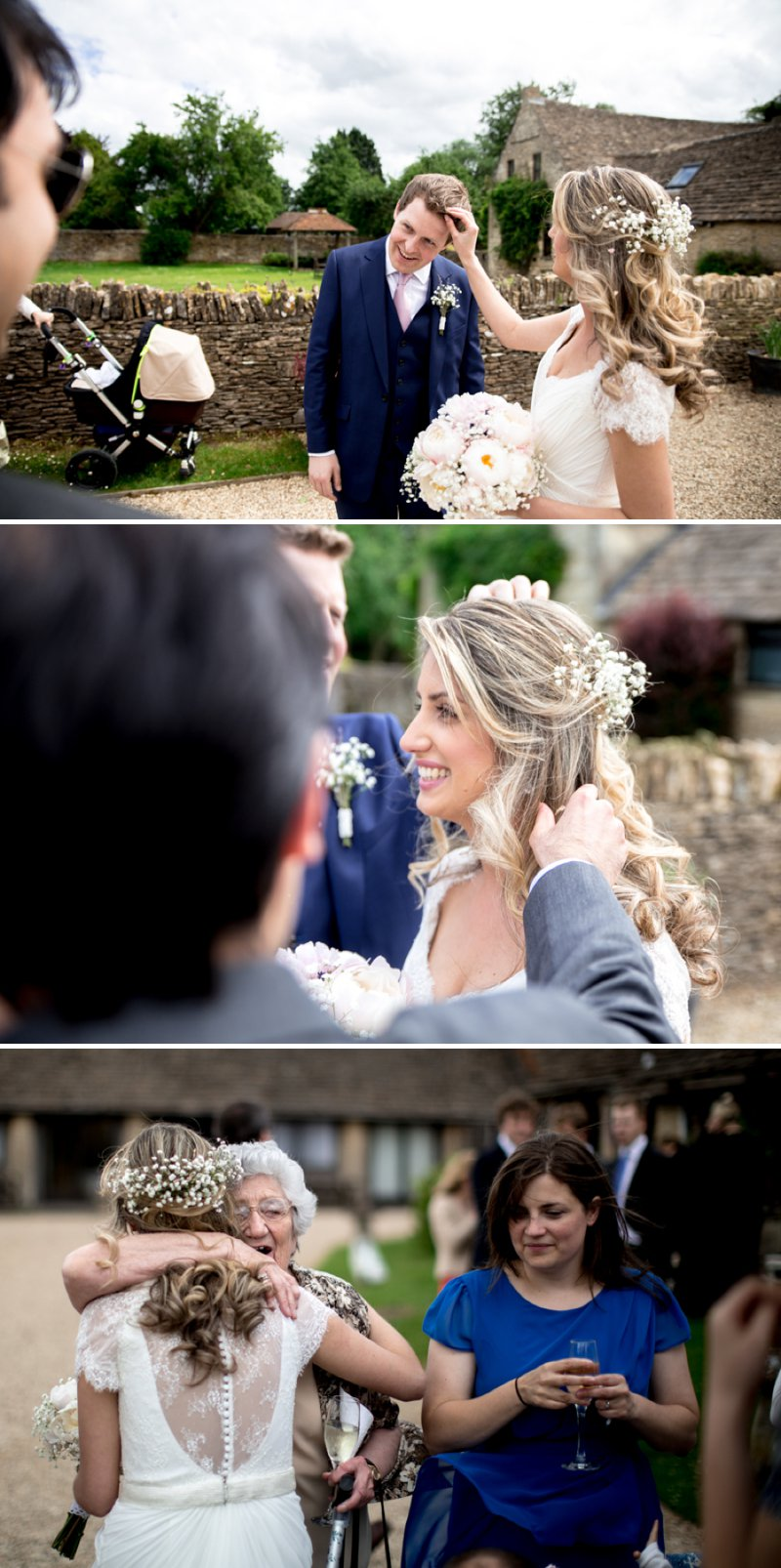 A Pretty Barn Wedding In The Cotswolds At The Great Tythe Barn With Bride In Pronovias And Groom In Reiss With Decor From The Vintage Hire And Images From Richard Jones Photography5