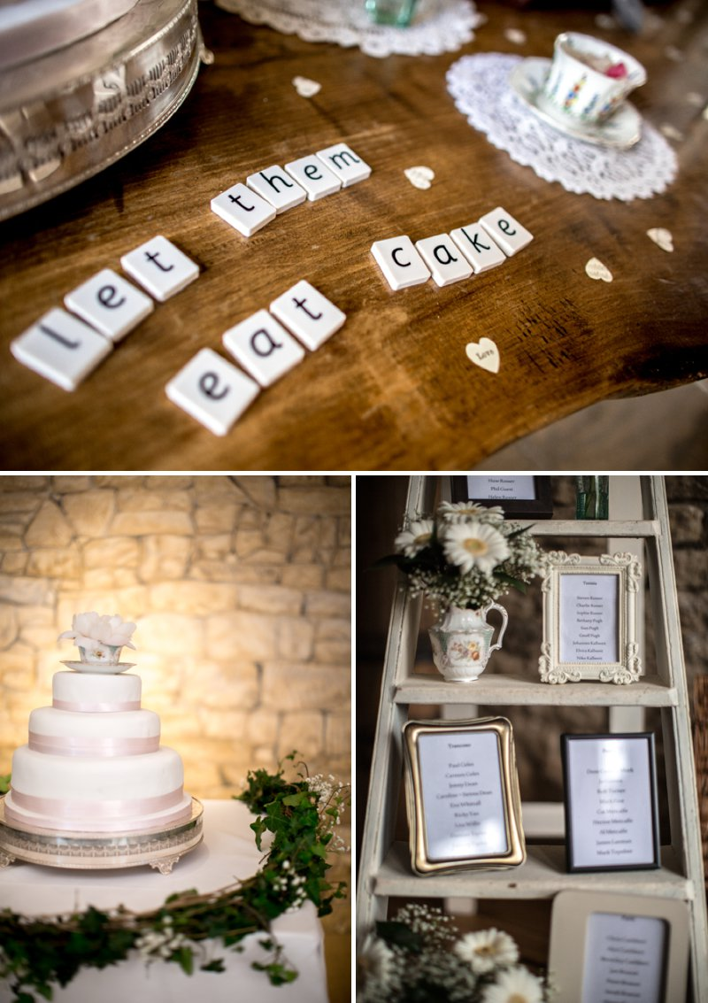 A Pretty Barn Wedding In The Cotswolds At The Great Tythe Barn With Bride In Pronovias And Groom In Reiss With Decor From The Vintage Hire And Images From Richard Jones Photography8