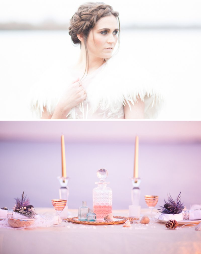 A Romantic Bridal Inspiration Shoot Inspired By Long Distance Love And Waiting For Your Loved One To Return Images By Light And Lace Photography1 Message In A Bottle.