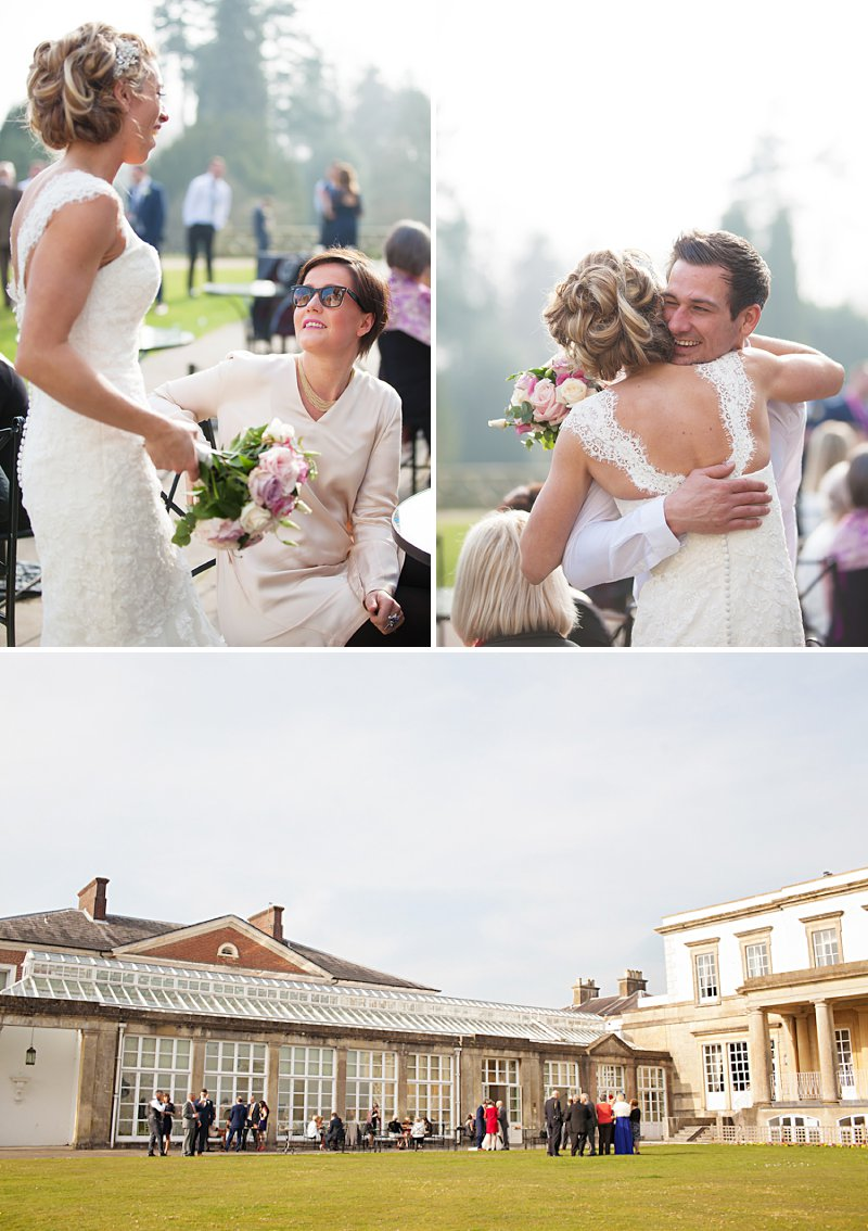 A relaxed and stylish wedding at Buxted Park with pastel palette colour scheme fishtail wedding dress by Benjamin Roberts and groom suit by Reiss and wedding photography by  AnnaMarie Stepney_0010