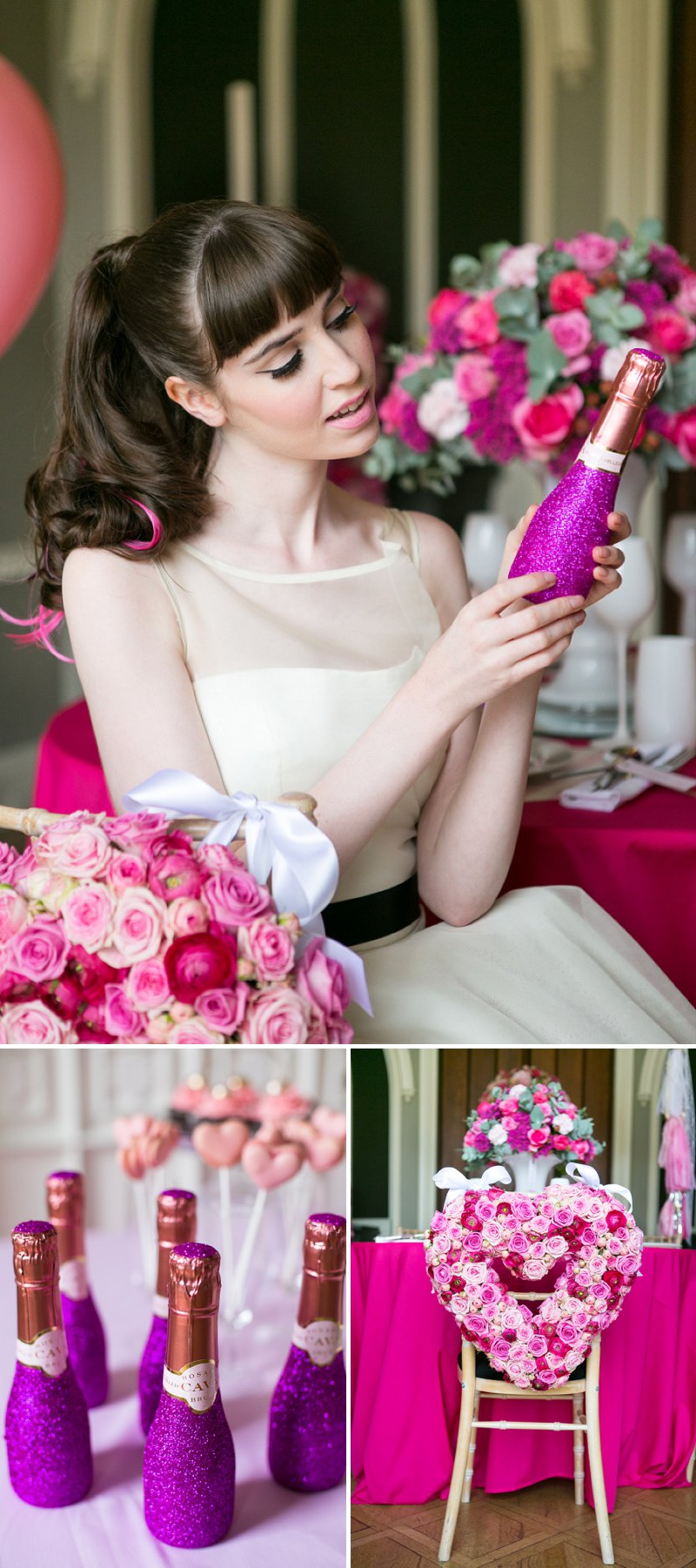 Fun Girly Bridal Inspiration Shoot At Nonsuch Mansion Inspired By Holly Golightly With Bright Pink Details A Vintage Wedding Car With Images by Anneli Marinovich Photography 8