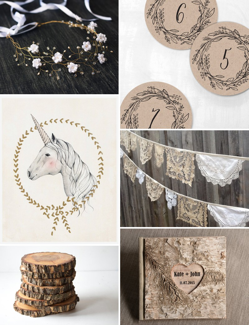 How To Create A Midsummer Night's Dream Inspired Wedding Using Products From Etsy._0001